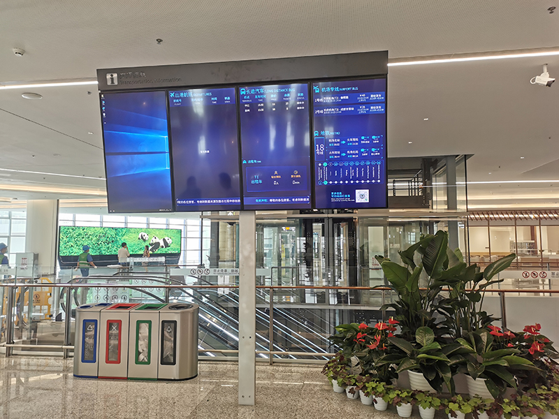 成都天府機場航站樓與停車場連廊